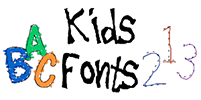 KidsFonts D'Nealian and traditional tracing fonts for homeschoolers